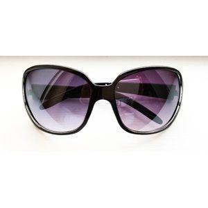 Black Signature Coach print rose-tinted sunglasses